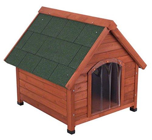 4Seasons de madera de pino–Caseta de perro ideal para perros que vivir fuera TODO EL AÑO y necesidad de protección contra el viento, Sun, la lluvia y la nieve y