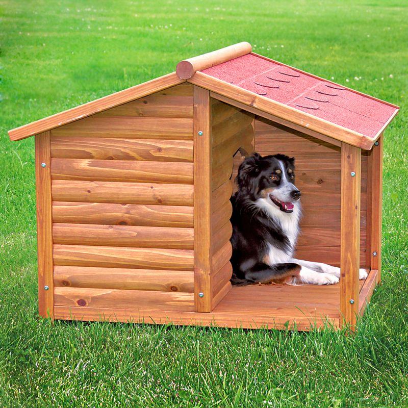 caseta para perros trixie natura con terraza