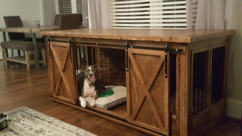 jaulas para perros de madera