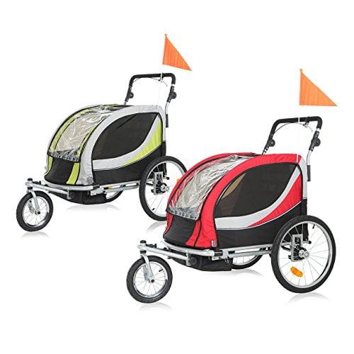 polironeshop argo remolque y carrito de bicicleta para el transporte de perros