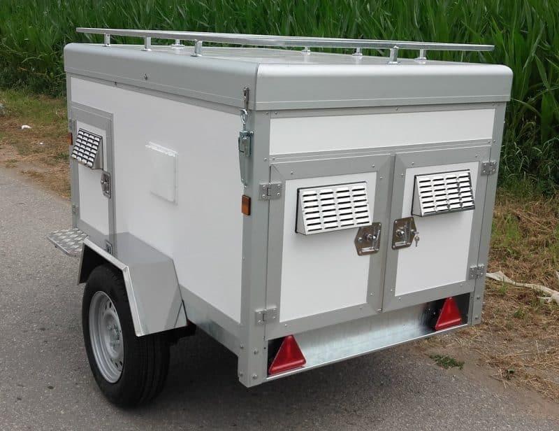 remolque de autos para transportar perros