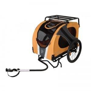 Venta de remolques y carros para transportar perros grandes y pequeños para coche y bicicleta